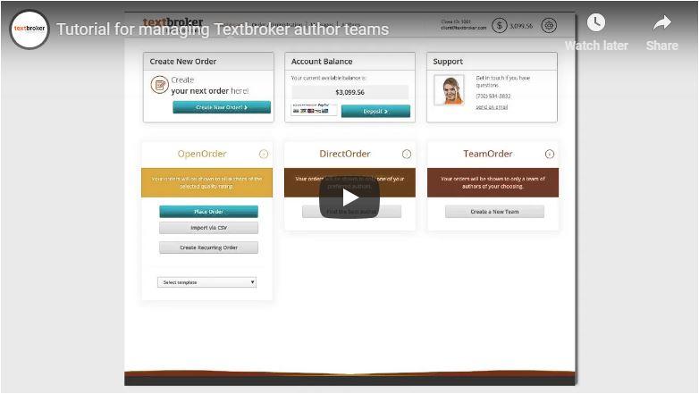 Hoe beheer je je auteursteams op Textbroker