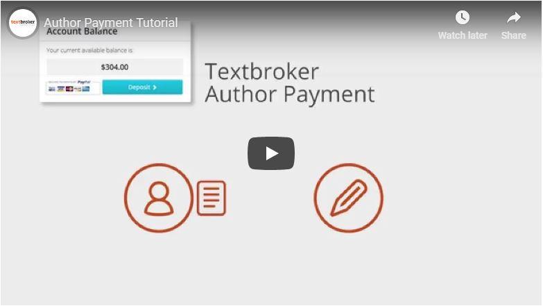 Textbroker auteursbetalingen