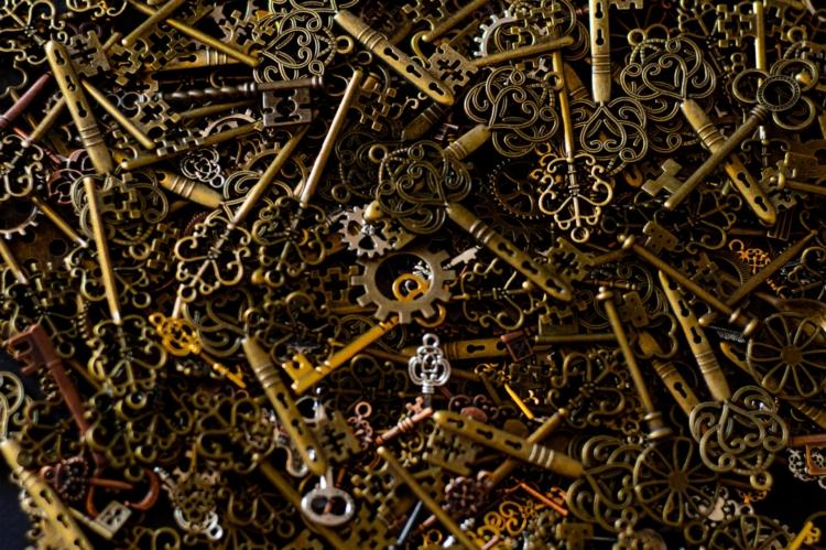 Een hoop oude sleutels
