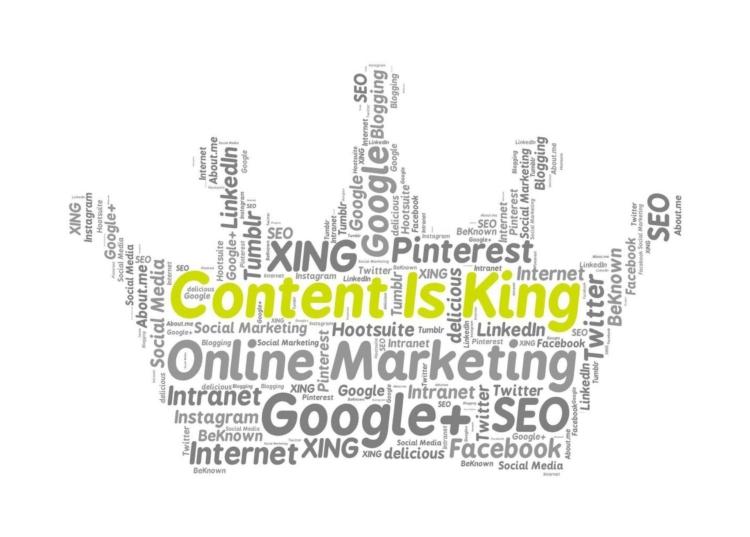 Crown geformatteerd van marketing termen zoals seo inhoud etc